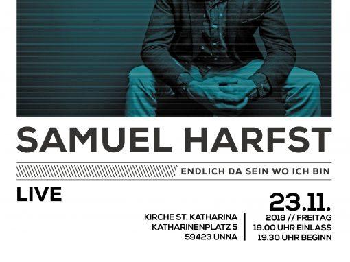 Samuel Harfst-Konzert am Freitag, 23.11.