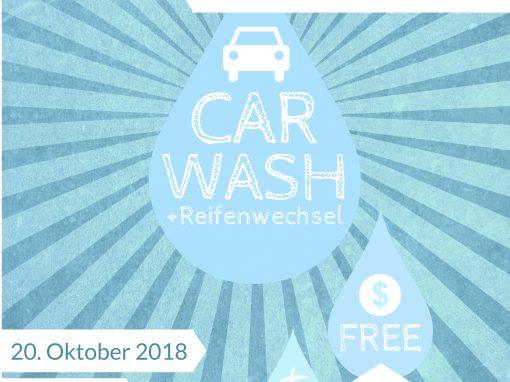 Carwash-Aktion der Weltjugendtagsgruppe