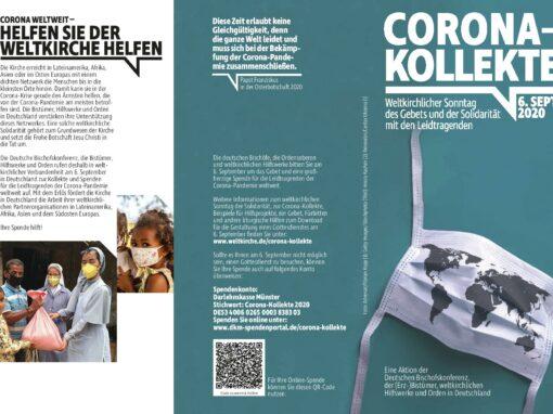 Sonderkollekte für die Leidtragenden der Corona-Pandemie
