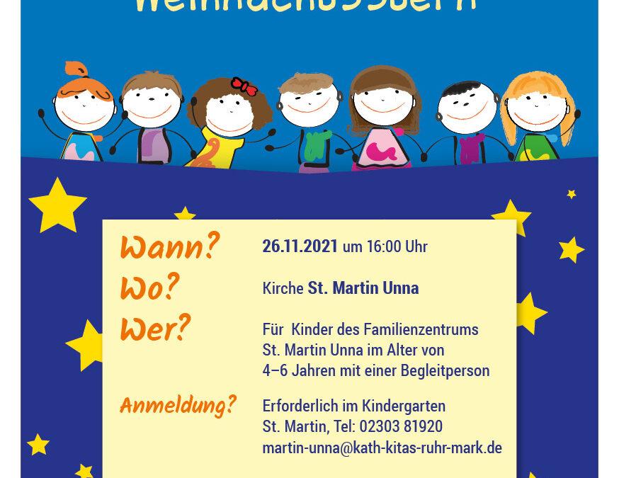 Adventskonzert für die Kinder des Kindergartens St. Martin